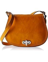 4e1ae8c8179e Floto Women S Saddle Bag In Yellow Italian Calfskin Leather - Handbag  Shoulder Bag
