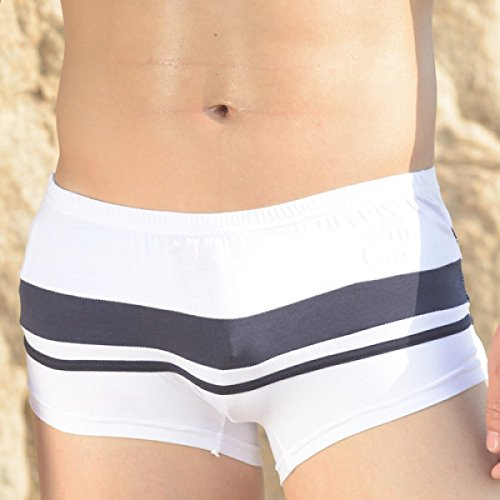 KUWOMINI.Fight Farbe Mode Herren-Badehose Strandstämme White