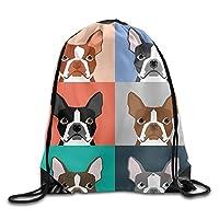 "tyutrir Cute Owl Printed Designs Drawstring Backpack Women Heavy Duty Shoulder Bag Tote Dance 16.9"" 14"" 6531"
