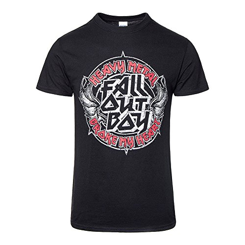 Official Fall Out Boy Heavy Metal T Shirt (Schwarz) Schwarz