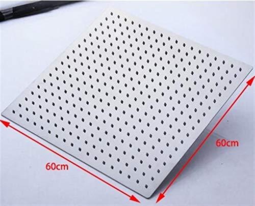 GZSC Duschkopf 20 Zoll / 24 Zoll großer quadratischer Regenduschkopf Edelstahl-Hochdruckduschkopf Chrom-Wandmontagedecke (Color : 24 inch)