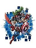 AG Design DK 1715Marvel Capitan America, adesivo da parete, 65x 85cm–monoblocco, in carta, multicolore, 0,1x 65x 85cm