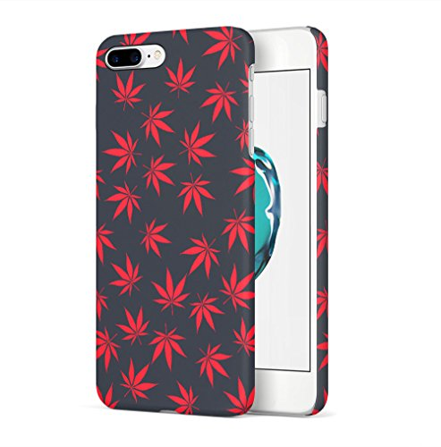 Weed Stoned Marijuana Leaves Apple iPhone 7 / iPhone 8 SnapOn Hard Plastic Phone Protective Custodia Case Cover Weed Leaf