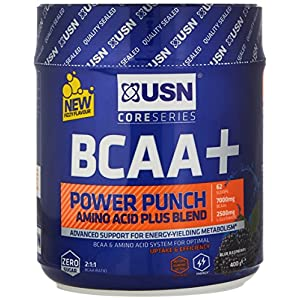 51soFVWPzoL. SS300  - USN BCAA Power Punch Performance and Stamina Drink Powder - 400 g