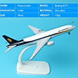 777 (JET Airways) : A380 A320 A330 B777 B757 16cm Global Aircraft Airplane Model 1:400 Plane Model Alloy materials Kids for Toys Baby Gift