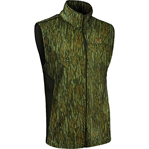 Terramar Men's M Beast Predator Vest, Mossy Oak Bottomland/Dark Loden, S Loden Green Wool