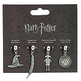 Ufficialmente autorizzato Harry Potter argentato Multi Slider Charm Set