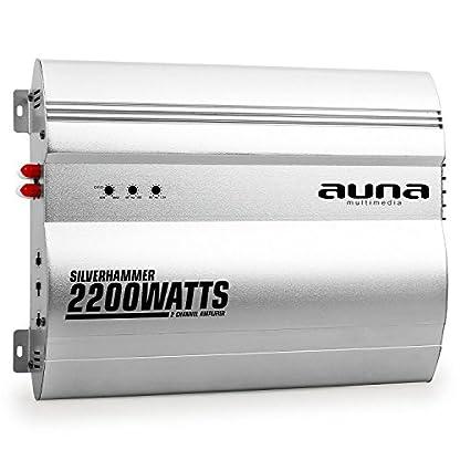 Unbekannt-auna-Silverhammer-Car-HiFi-Set-2-Kanal-Endstufe-Lautsprecher-Set-2200-Watt-Max-Verstrker-2-x-1200-Watt-Subwoofer-2-x-1200-Watt-Mitteltner-und-2-x-157-Tweeter-Silber