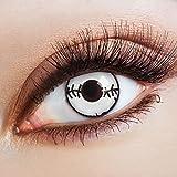 aricona Kontaktlinsen Farblinsen weiße Zombie Kontaktlinsen ohne Stärke für dein Halloween Kostüm Jahreslinsen für ein Horror Make up