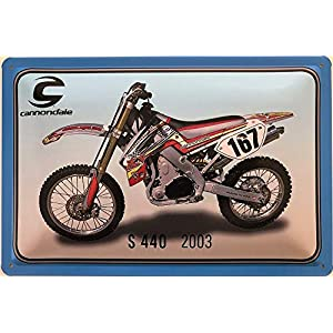 51soHF6lbrL. SS300 Deko7 Targa in Metallo 30 x 20 cm Cannondale S 440 Anno di Costruzione 2003