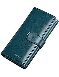 3ad0f3b36 Cartera para Señorita Cartera para mujer Excelente monedero de cuero genuino  Monedero Titular de la tarjeta