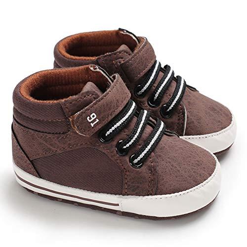 Sabe , Baby Jungen Lauflernschuhe Beige beige, Beige - Ab-Brown - Größe: 0-6 Monate (Baby Größe Schuhe Jungen 3)