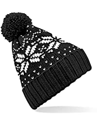'Fair Isle Snowstar Beanie' Beechfiled - Klassisch gemusterte Wintermütze