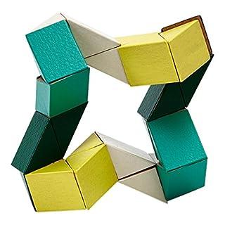 AREAWARE czsbsyg Schlange Block Holz Spielzeug Puzzle–Gelb/Grün