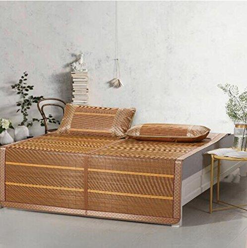 Estera de verano Alfombras de bambú frescas del verano esteras esteras gruesas doble cara plegable solo dormitorios 1.35 * 195m ( Tamaño : 1.35*195m )