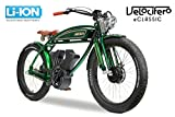 VELOCIFERO Italiniesches Design E-Classic 26' Elektrofahrrad Fahrrad Elektro Oldschool (Rot)