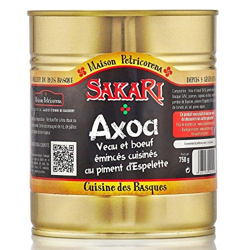 Sakari - Axoa, 750 G : Veau Et Boeuf Cuisinés Aux Piments Doux Et Piment D'Espelette