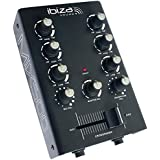 Ibiza Light & Sound MIX500 2-Kanal DJ Mischpult mit Klangregelung, 1 Stück
