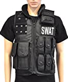 Taktische Einsatztweste Einsatz Weste Polizei Pistolenholster SWAT Tactical Vest Paintball Holster Neu One Size