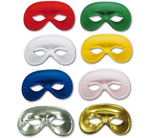 Fiestas Guirca Domino-Maske aus grüner Seide (Domino Maske Grüne)