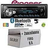 Ford KA - Autoradio Radio Pioneer DEH-S5000BT - Bluetooth   CD   MP3   USB   Android   iPhone 12V Radiopaket Einbauzubehör - Einbauset