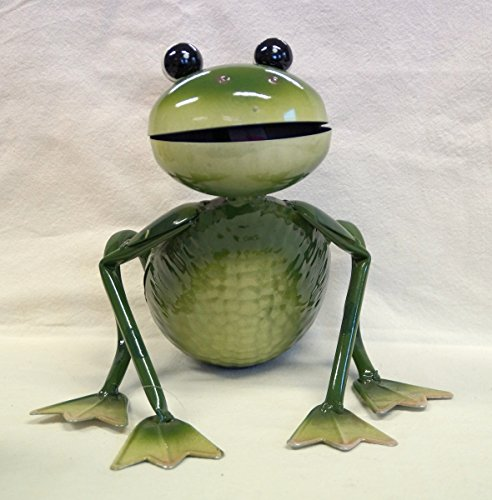 Großer Frosch aus Metall in grün, 20087