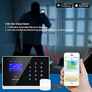 ERAY Wireless Alarm Systems Support IOS / Android APP with