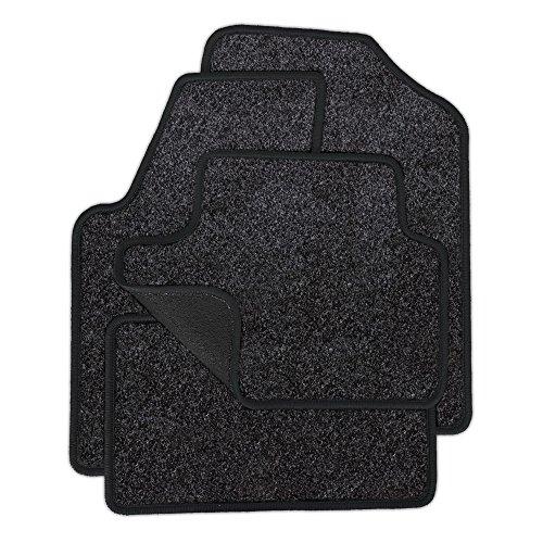 Preisvergleich Produktbild Eight Tec Handelsagentur VMELET_31417 Passgenaue Velours-Fußmatten Grau-meliert und Rand in Anthrazit - Fahrzeugtyp in der Artikelbeschreibung beachten!