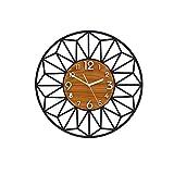 Vinteen Kreativität Persönlichkeit Acryl Hohlwanduhr Wohnzimmer Uhr Moderne Einfache Uhr Stille Schlafzimmer Dekoration Quarzuhr Atmosphäre Home Horologe Uhr (Größe : M)