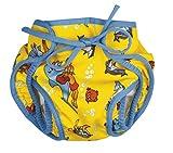 Beco Aqua - Couche de natation couches-formulaire avec de velcro - jaune avec Dauphin, 44