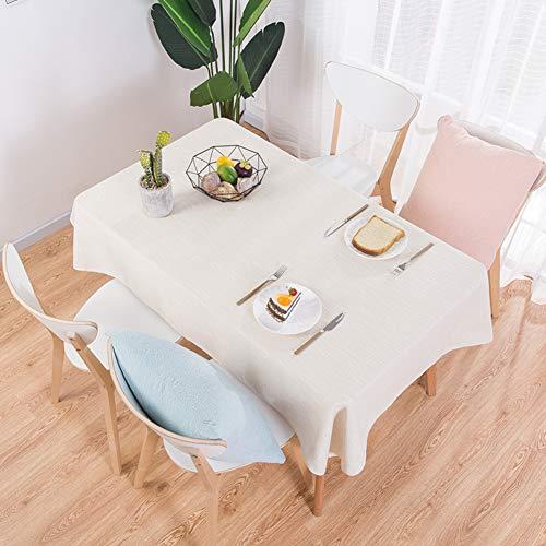 BATSDCB Volltonfarbe Tischdecken, Einfache Moderne Restaurant Burn-Proof Tabelle Tuch, Bettwäsche...