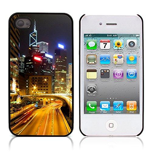 Graphic4You Hong Kong Postkarte Ansichtskarte Design Harte Hülle Case Tasche Schutzhülle für Apple iPhone 4 und 4S Hong Kong #1