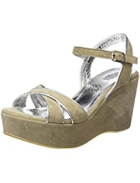 SHOOT Shoot Shoes Sh-215037 Damen Plateau Leder Pumps Ankle Boots, Escarpins femme