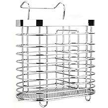 Portable bacchette gabbia posate cucchiaio Storage Box Cucina Rack scoli Organizzatore (tipo turno) - Argento