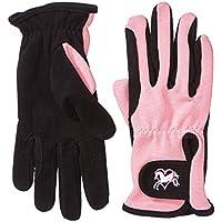Riders Trend 1007064-BLKPNK-S - Guantes de equitación para mujer, color negro/rosa, talla S