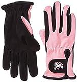 Riders Trend Damen Reiter Handschuhe Reithandschuhe Amara Palm mit Elastan-material Atmungsaktiv, Black/Pink, S, 1007064