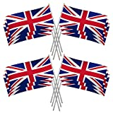 Right Goods Right Price 50pcs Union Jack Royal Street Party Hand Waving Flags Decoration Royal Celebration Flag Sporting Events Pub BBQ Royal Theme D