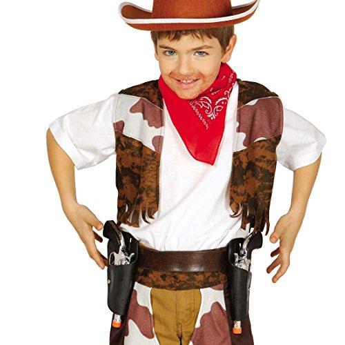 NET TOYS Étui avec Deux Pistolets Ceinture pour révolvers pour Enfants Housse pour pistoles Gaine et Colt Revolver Jouet Cowboy Déguisement Western déguisement