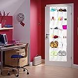 Colleer® praktische Ordnungssysteme an der Tür mit 24 Taschen/Türregal, Hängeorganizer, Hängeaufbewahrung, Schuhschränke, Multifunktionale Aufbewahrungstasche (Weiß)