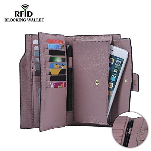 befen-womens-full-grain-leather-rfid-blocking-multi-card-organizer-wallet-wristlet-with-zipper-pocke
