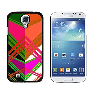 Graphics and More Geometric Magenta Orange Green Snap-On Hard Protective Case for Samsung Galaxy S4 - Non-Retail Packaging - Black