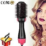 AoHKers Pro - Cepillo de aire caliente, cepillo de volumen y secador de pelo y rizador 2 en 1, cepillo de peinado eléctrico, cepillo redondo giratorio, cepillo para secador de pelo, rizador de pelo