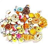 YIXUAN 20 Pcs Randomly Style Soft Slow Rising Squishy Bread for Phone Charms Strap Key Bag Chain Squishies Charms