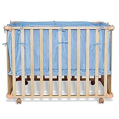 bb0044, cuna (Madera), cuna para niños pequeños, juego con edredón y almohada, adecuado para colchón 90x 60cm