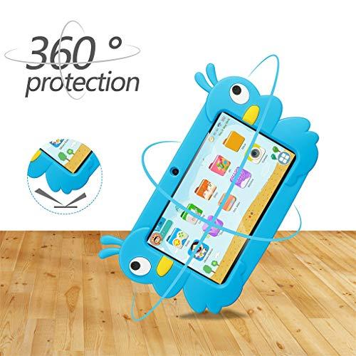 Dkings Kinder Tablet Android Quad Core 7 Zoll Tablet für Kinder Edition Tablet mit WiFi Kamera Spiele IPS Sicherheit Augenschutz Bildschirm 1 GB 16 GB Speicher (Blue)