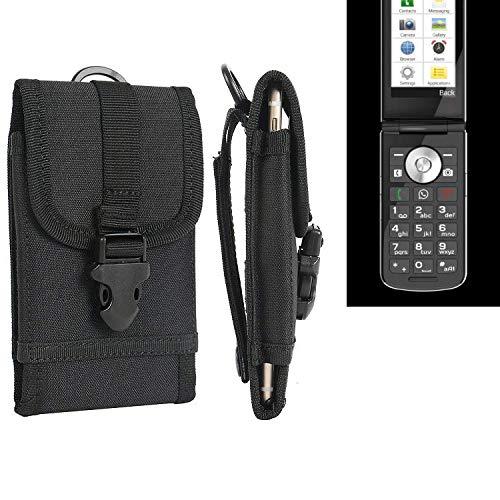 K-S-Trade® Handyhülle Für Emporia TOUCHsmart Gürteltasche Handytasche Gürtel Tasche Schutzhülle Robuste Handy Schutz Hülle Tasche Outdoor Schwarz