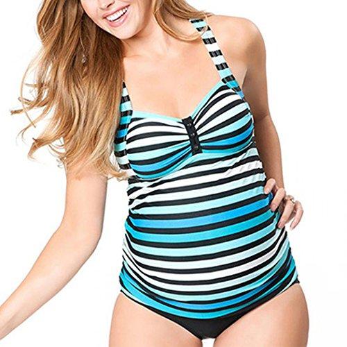 Suer Mae Costumi da Bagno Premaman maternità Tankini Imbottite da Donna Stampa 9 XXL