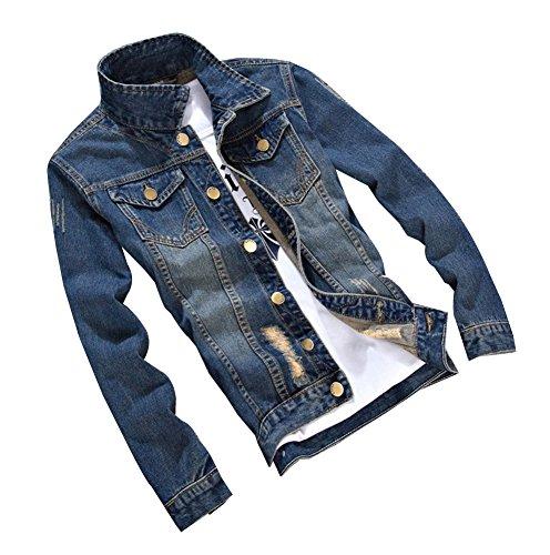 Herren Beiläufige Cowboy Jeansjacke Frühlingsjacke Herbst Jacke Kurzjacke Regular Fit Langarm mit Muster 2