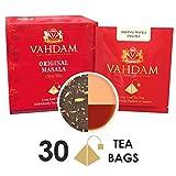 Bustine di tè Masala Chai originale indiano - 15 bustine di tè (confezione da 3) - 100% SPEZIE NATURALI, SENZA AROMI ARTIFICIALI - Miscelato e confezionato in India - Tè nero, cardamomo, vaniglia, pepe nero e chiodi di garofano