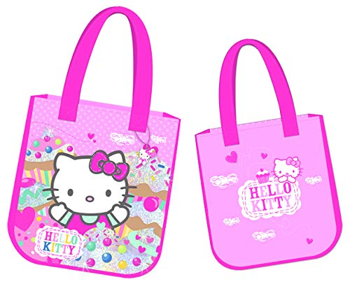 HELLO KITTY CUP CAKE GIRLS LARGE TOTE SHOPPER TRAVEL HAND LUGGAGE BAG PINK  NEW 442f4ab00c60f